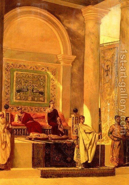 The Throne Room In Byzantium by Benjamin Jean Joseph Constant - Reproduction Oil Painting