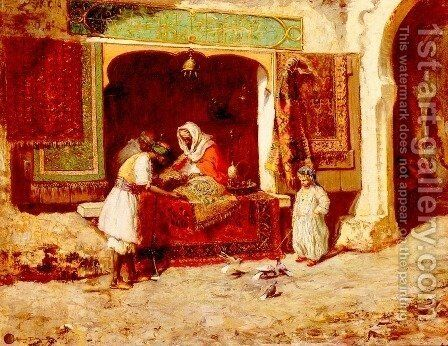The Rug Merchant by Addison Thomas Millar - Reproduction Oil Painting