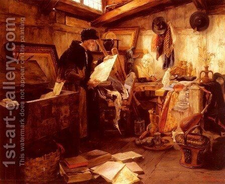 In The Attic by Alfons Spring - Reproduction Oil Painting