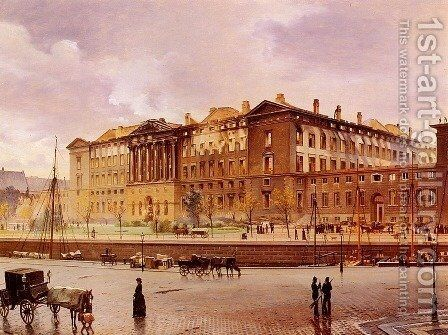 Christiansborg Slot Efter Branden by Carl Christian Andersen - Reproduction Oil Painting