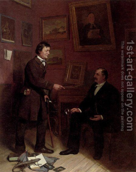 The Art Collector by Carl Christian Andersen - Reproduction Oil Painting