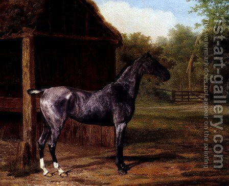 lord Rivers' Roan mare In A Landscape by Jacques Laurent Agasse - Reproduction Oil Painting
