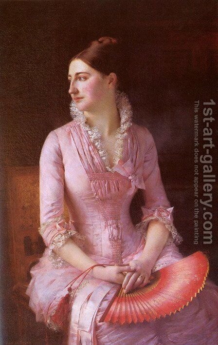 Portrait of Anne-Marie Dagnan by Gustave Claude Etienne Courtois - Reproduction Oil Painting