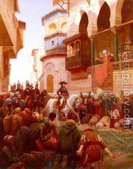 Napoleon's Entry Into Cairo by Gustave Bourgain - Reproduction Oil Painting