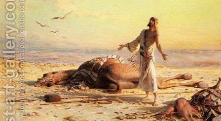Shipwreck in the Desert by Carl Haag - Reproduction Oil Painting