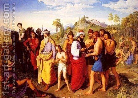 Joseph Being Sold Into Slavery by Alexander Maximilian Seitz - Reproduction Oil Painting