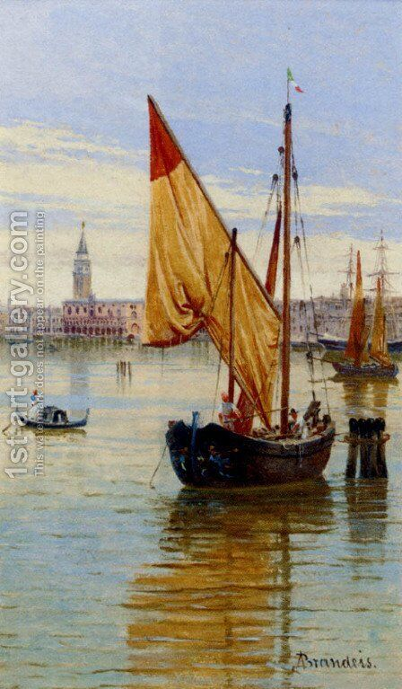 Barca Da Pesca, Venezia by Antonietta Brandeis - Reproduction Oil Painting