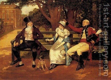 Competing For Attention by Henry Gillard Glindoni - Reproduction Oil Painting