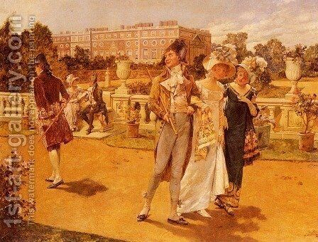 The Brave Deserve The Fair by Henry Gillard Glindoni - Reproduction Oil Painting