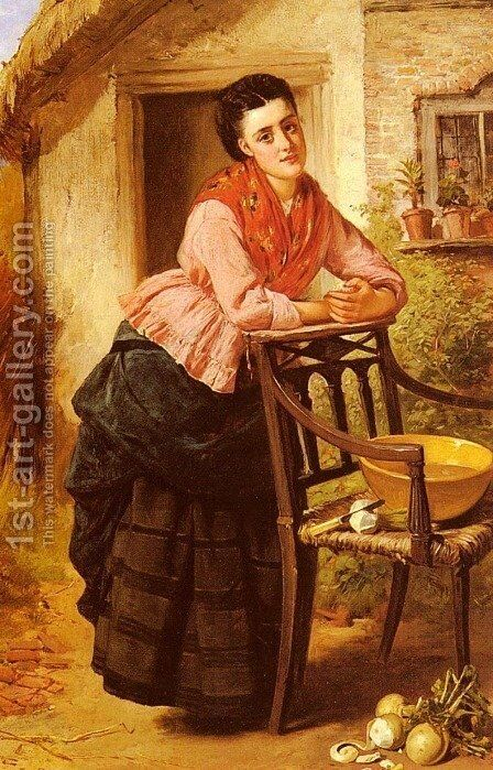 A Rest From Labour by Edward Charles Barnes - Reproduction Oil Painting