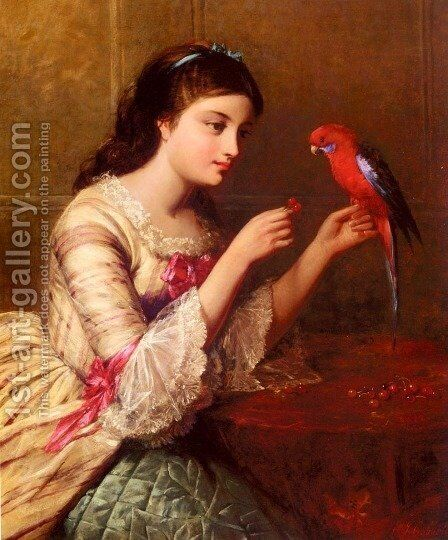 An Attentive Friend by Edward John Cobbett - Reproduction Oil Painting