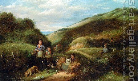 The Makeshift Cart by Charles Hunt - Reproduction Oil Painting