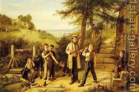 The Peace Maker by Charles Hunt - Reproduction Oil Painting
