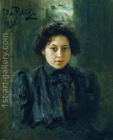 Portrait of the artist's daughter Nadezhda by Ilya Efimovich Efimovich Repin - Reproduction Oil Painting