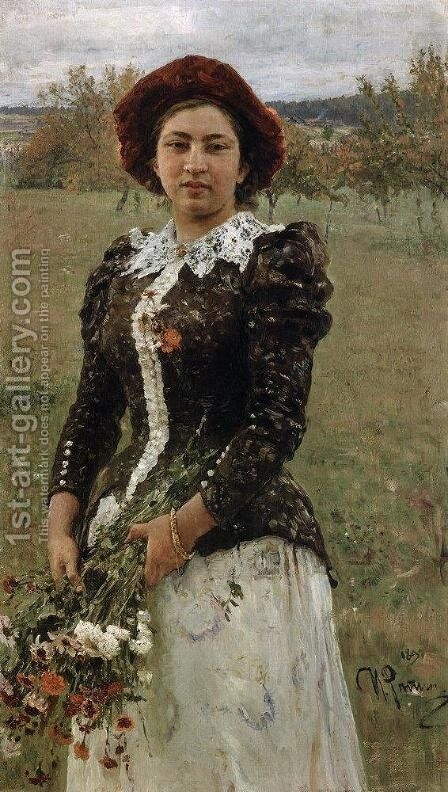 Autumn Bouquet by Ilya Efimovich Efimovich Repin - Reproduction Oil Painting