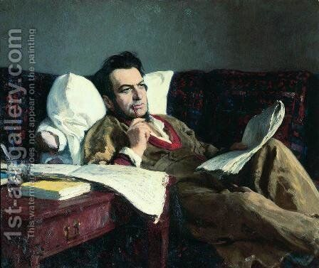 Portrait of the Composer Mikhail Glinka by Ilya Efimovich Efimovich Repin - Reproduction Oil Painting