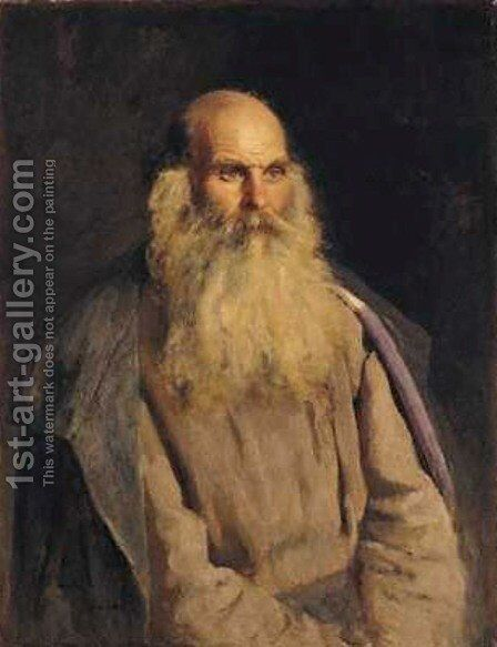 Study of an Old Man by Ilya Efimovich Efimovich Repin - Reproduction Oil Painting