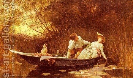 Simpletons, The Sweet River by Sir Samuel Luke Fildes - Reproduction Oil Painting