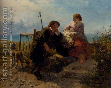 A Moment's Rest by James John Hill - Reproduction Oil Painting