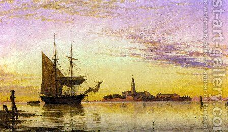 The Armenian Convent, Venice by Edward William Cooke - Reproduction Oil Painting