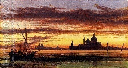 'Sunset Sky, Salute And San Giorgio Maggiore' by Edward William Cooke - Reproduction Oil Painting