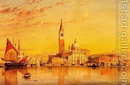 San Giorgio Maggior, Venice by Edward William Cooke - Reproduction Oil Painting