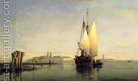 On The Lagoon Of Venice by Edward William Cooke - Reproduction Oil Painting