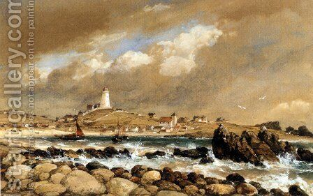 View Of St. Agnes, Scilly Isles by Edward William Cooke - Reproduction Oil Painting