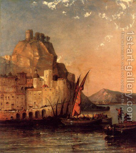 The Gulf Of Salerno, Amalfi Coast by Arthur Joseph Meadows - Reproduction Oil Painting