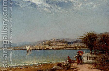Cannes, in the Riviera by Arthur Joseph Meadows - Reproduction Oil Painting