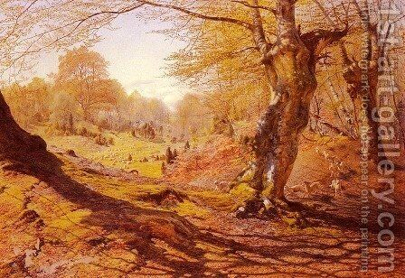 Seasons In The Wood - Spring, The Outskirts Of Burham Wood by Andrew MacCallum - Reproduction Oil Painting