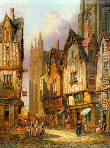 Lisieux, Normandy by Henry Thomas Schafer - Reproduction Oil Painting