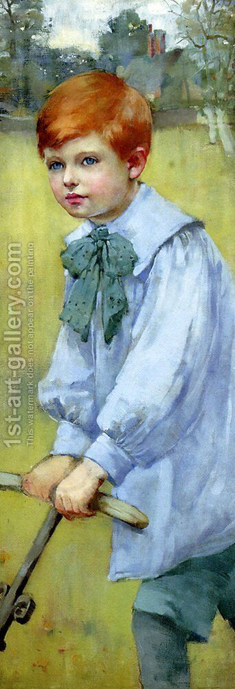 Portrait Of Meredith Frampton by Christabel A. Cockerell - Reproduction Oil Painting