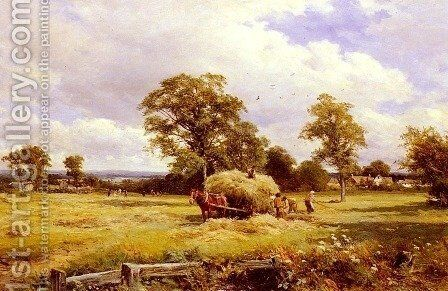 A Warwickshire Hayfield by David Bates - Reproduction Oil Painting