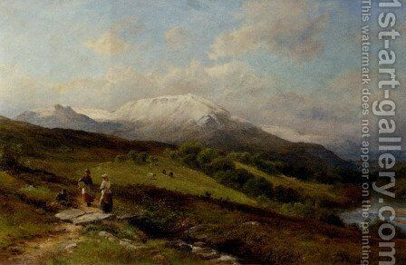 Snow on Ben Nevis by David Bates - Reproduction Oil Painting