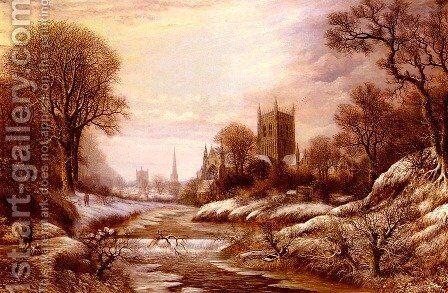 Worchester From The South West by Charles Leaver - Reproduction Oil Painting