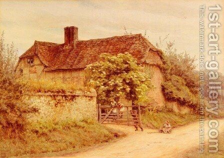 A Berkshire Cottage by Helen Mary Elizabeth Allingham, R.W.S. - Reproduction Oil Painting