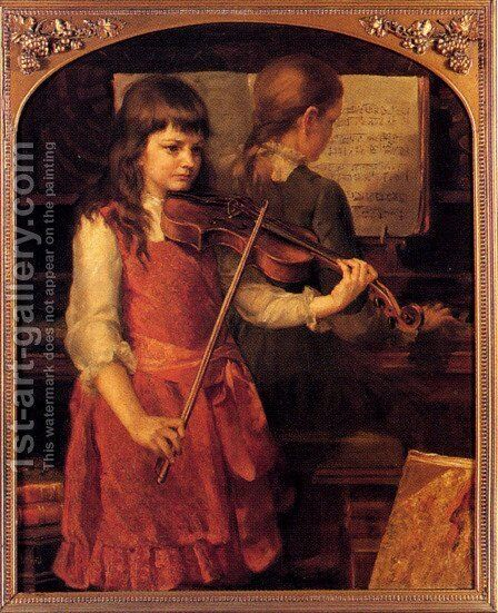 A Duet by Anna Lea Merritt - Reproduction Oil Painting