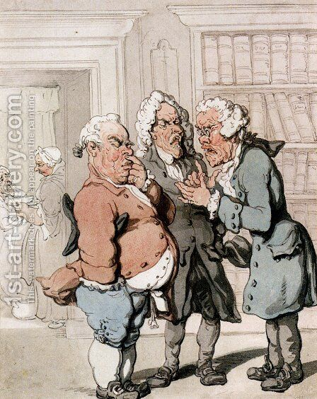 The Doctor's Consultation by Thomas Rowlandson - Reproduction Oil Painting
