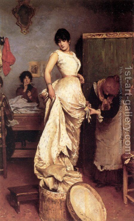 The Fitting by Cecil van Haanen - Reproduction Oil Painting