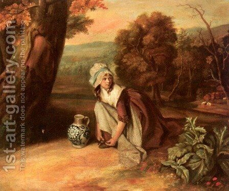 A Country Maid by Henry Walton - Reproduction Oil Painting