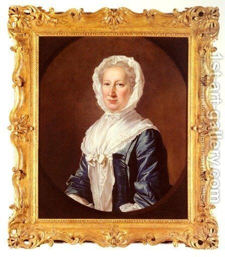 Portrait Of Catherine Fleming, Lady Leicester by James Cranke - Reproduction Oil Painting