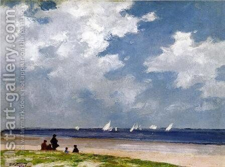Sailboats off Far Rockaway by Edward Henry Potthast - Reproduction Oil Painting