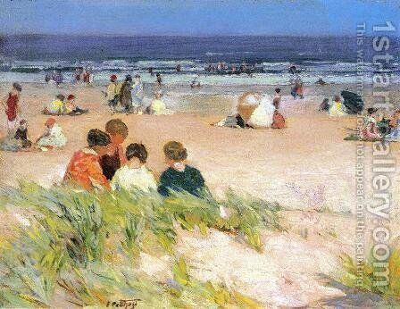 By the Shore by Edward Henry Potthast - Reproduction Oil Painting