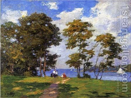 Landscape by the Shore (or The Picnic) by Edward Henry Potthast - Reproduction Oil Painting