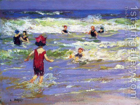 Little Sea Bather by Edward Henry Potthast - Reproduction Oil Painting