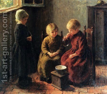 Blowing Bubbles by Edward Henry Potthast - Reproduction Oil Painting