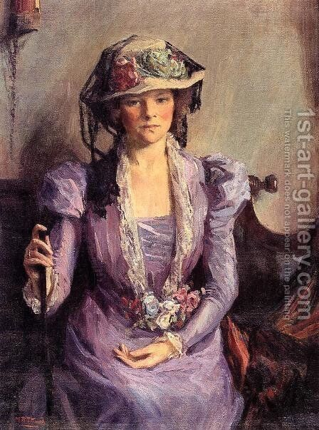 The Lady In Lavender by Mary Bradish Titcomb - Reproduction Oil Painting