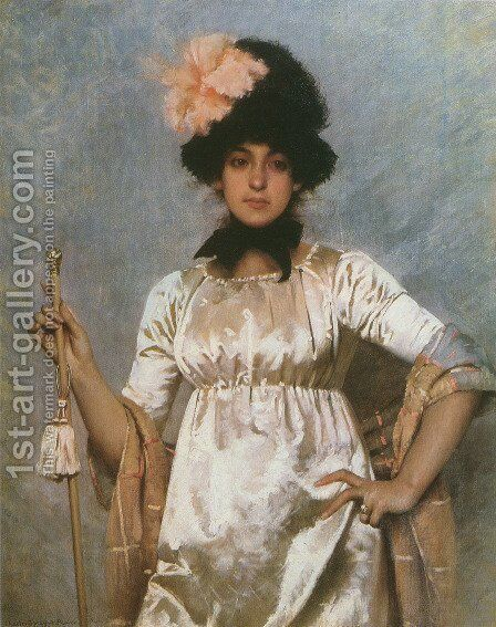 Woman of the Directoire by Charles Sprague Pearce - Reproduction Oil Painting
