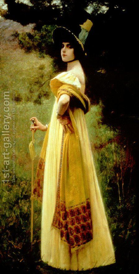 The Shawl by Charles Sprague Pearce - Reproduction Oil Painting